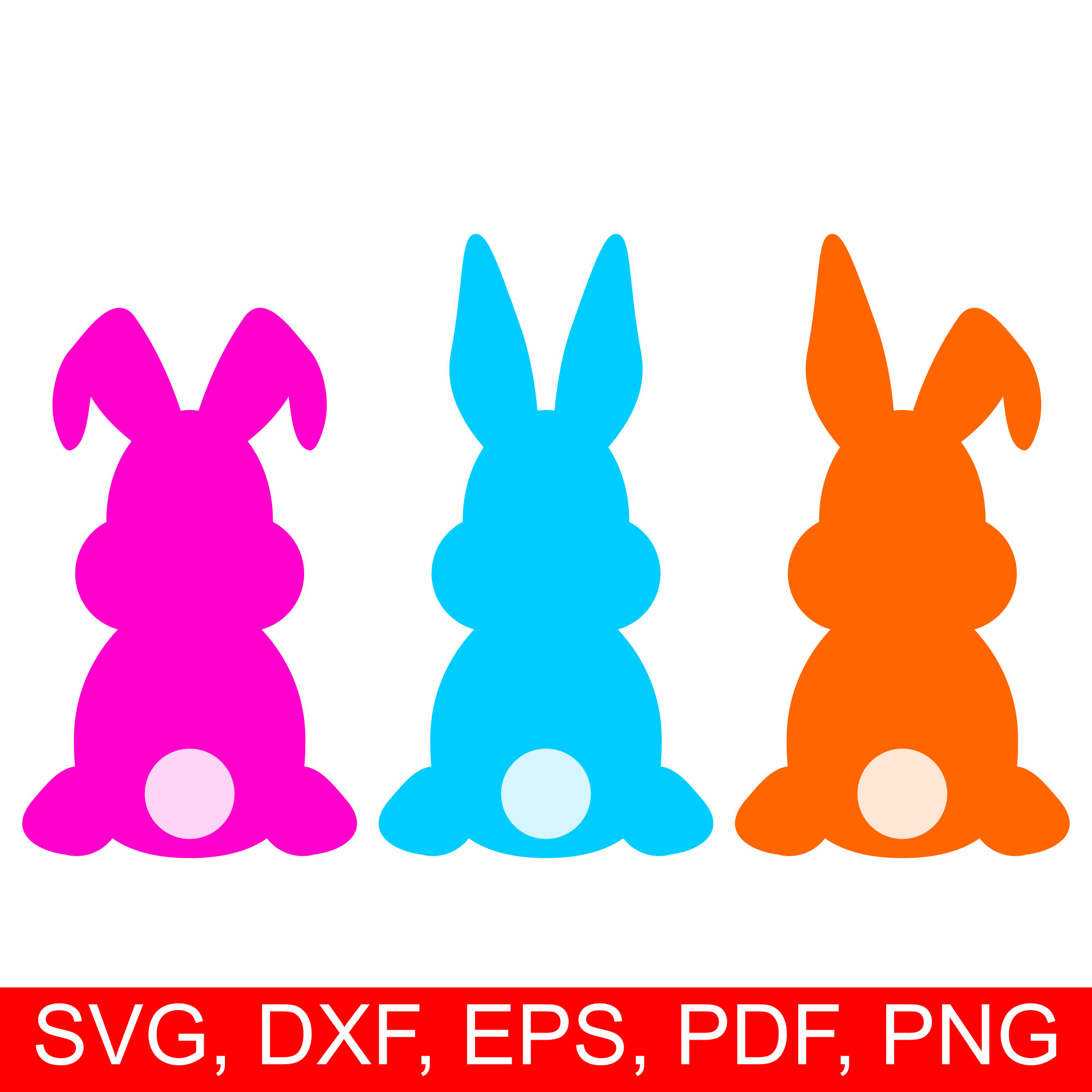 Easter svg cut file. Bunny clipart silhouette