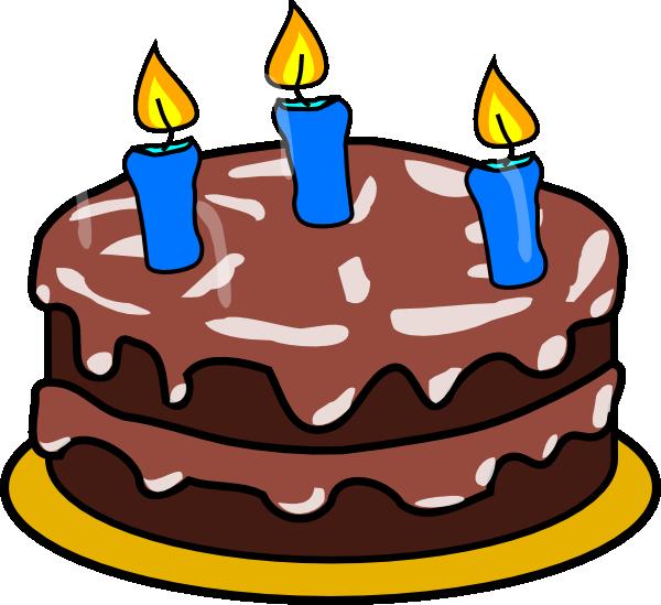 Birthday age clip art. 3 clipart cake