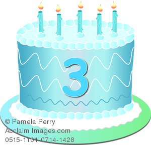 Blue clipart birthday cake. Clip art image of