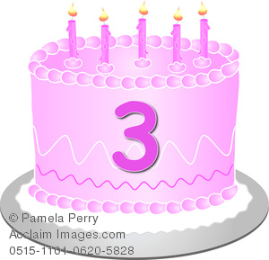 3 clipart cake. Clip art image of