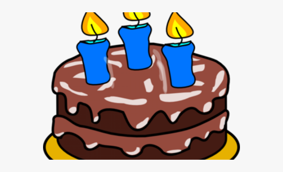 Birthday candles three candle. 3 clipart cake