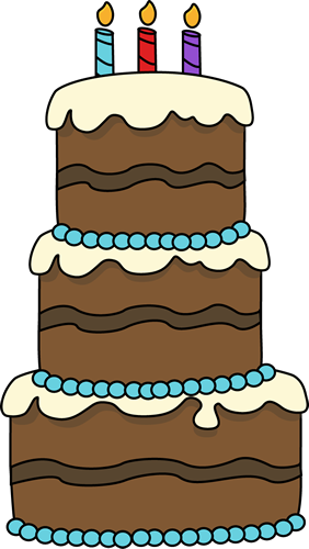 Birthday cake big clip. Baked goods clipart drawing