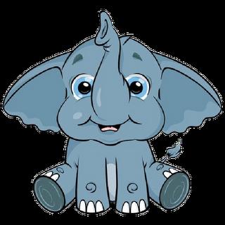 Cute baby elephant clip. 3 clipart cartoon