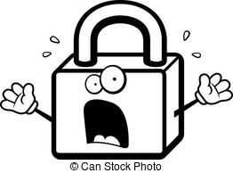 Lock pencil and in. 3 clipart cartoon