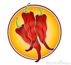 Chili pepper heart shape. 3 clipart chilli
