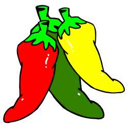 3 clipart chilli. Three hot chili peppers