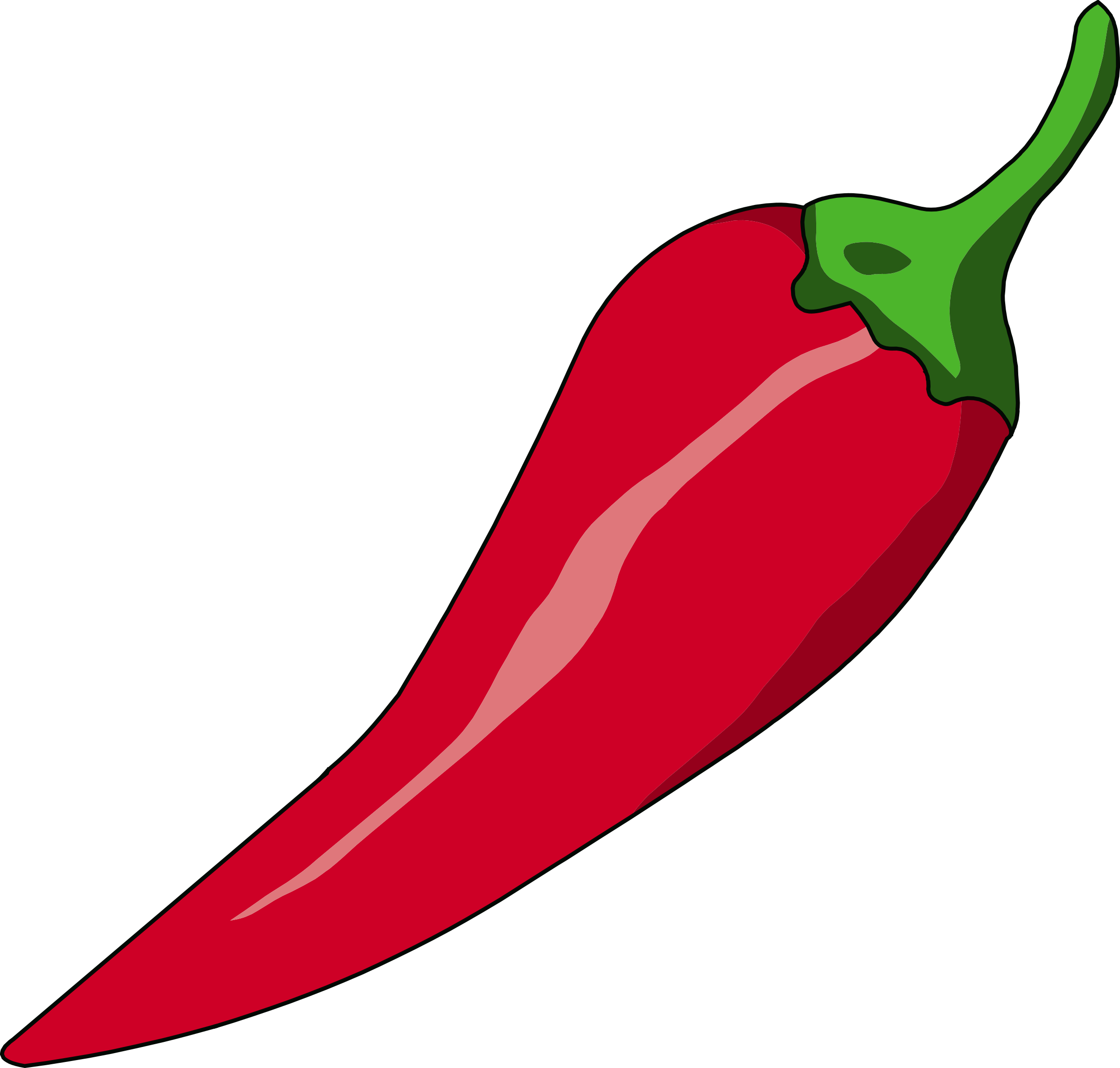 Big image png. 3 clipart chilli