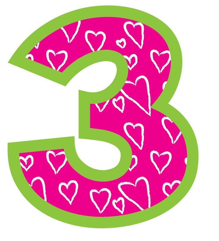 Number cilpart. 3 clipart cute