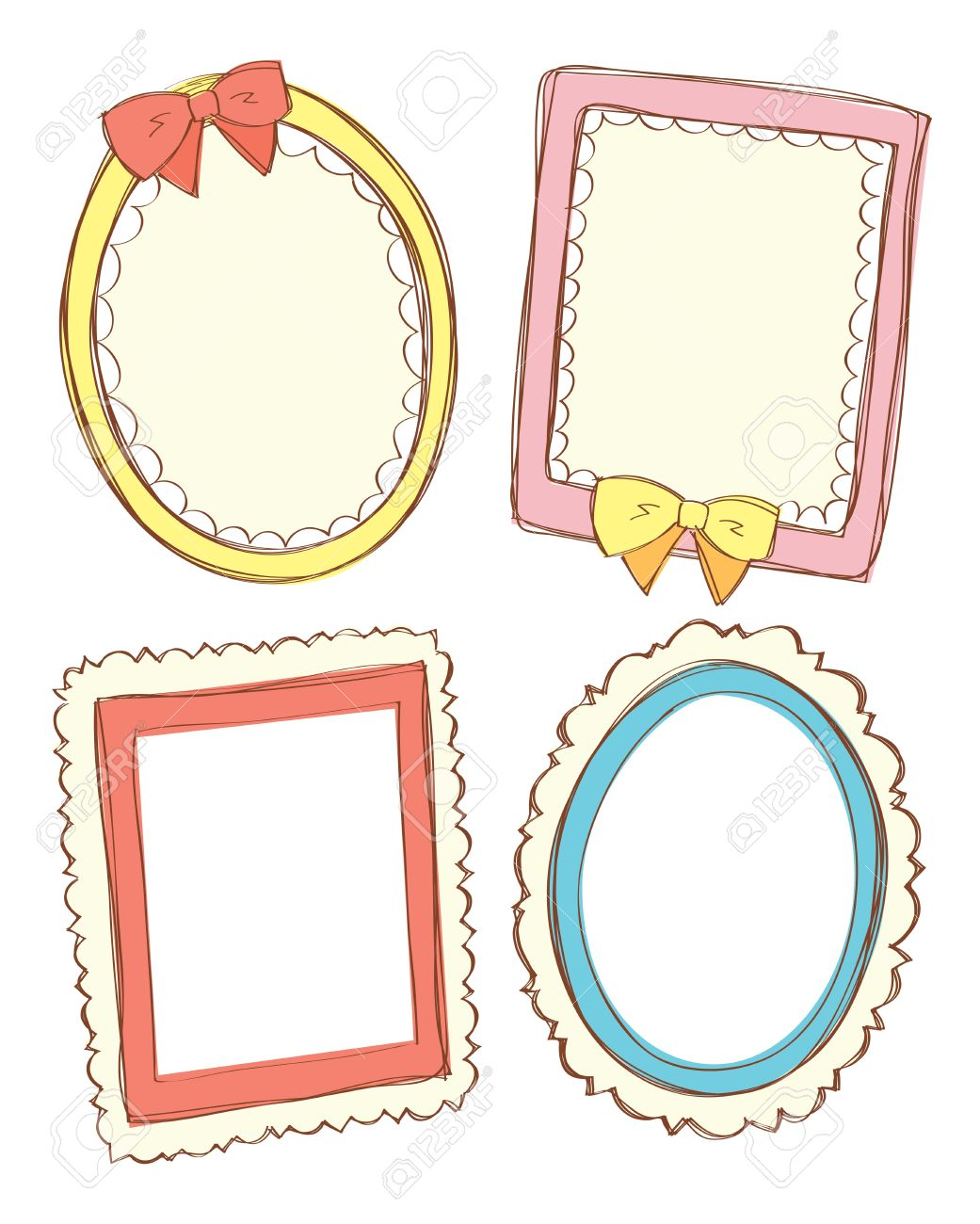 3 clipart cute. Frame station