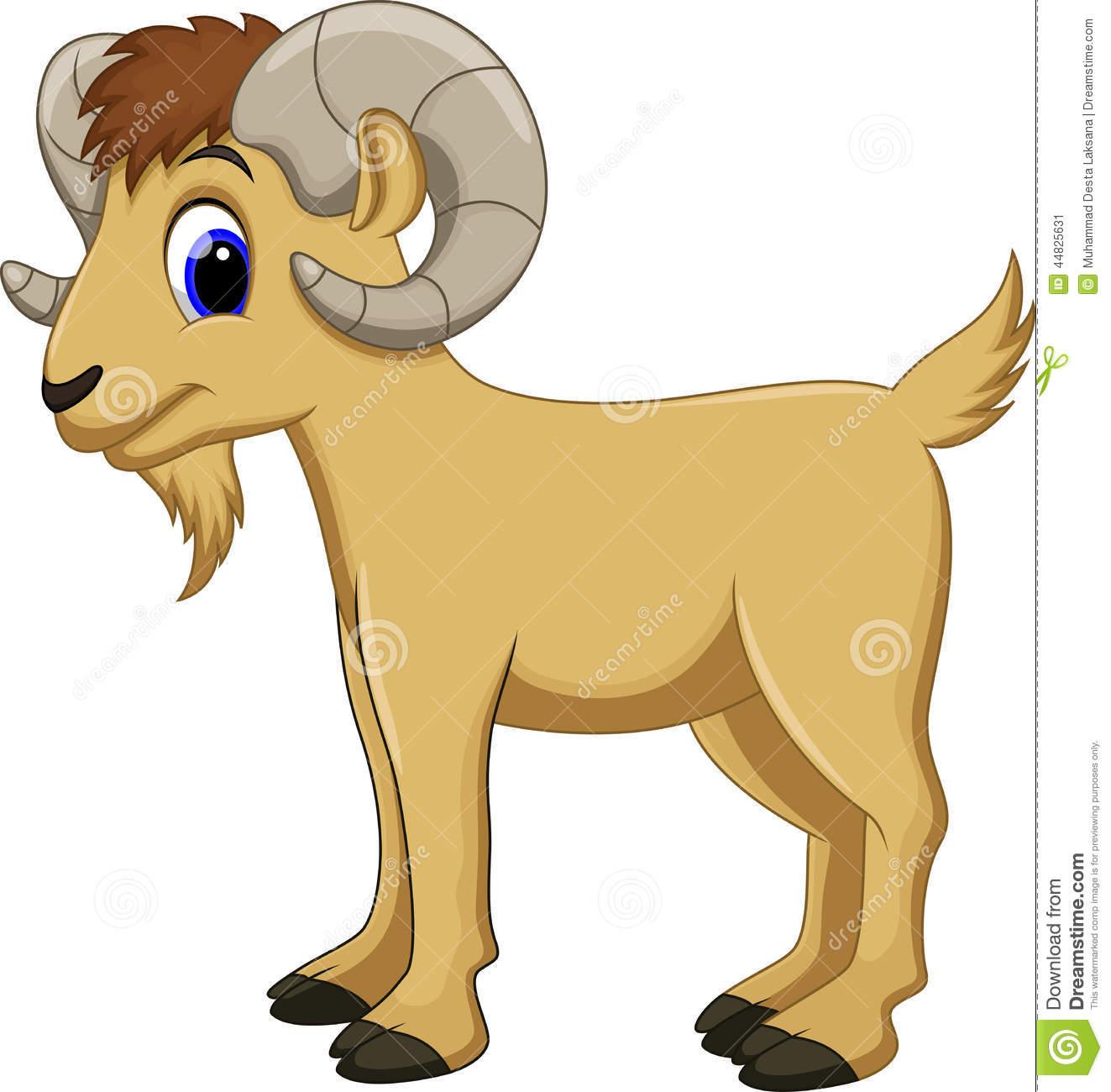 Cute goat station . Art clipart cartoon