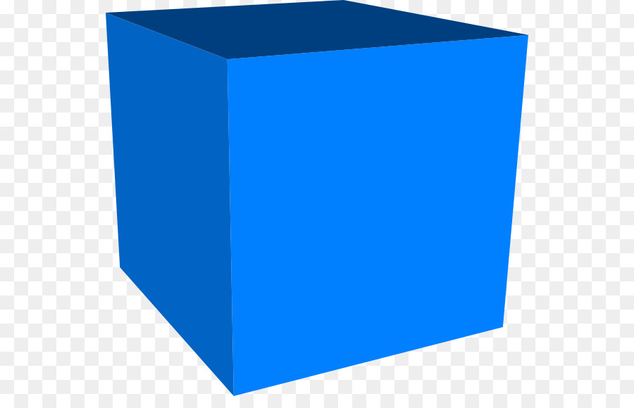 Cube three space shape. 3 clipart dimensional
