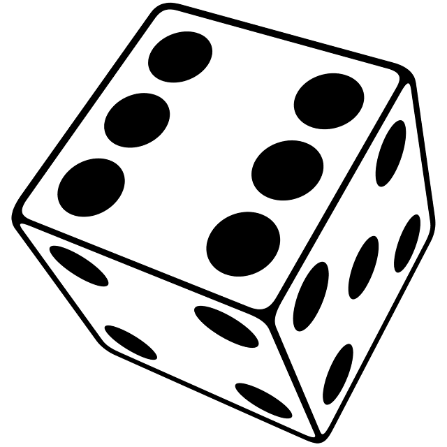 Three clipground dice . 3 clipart dimensional