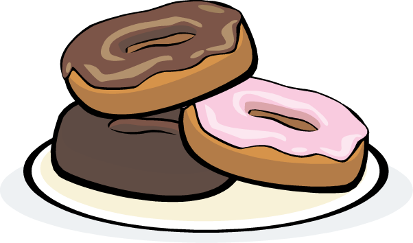 Cartoon kid dounuts in. 3 clipart donut