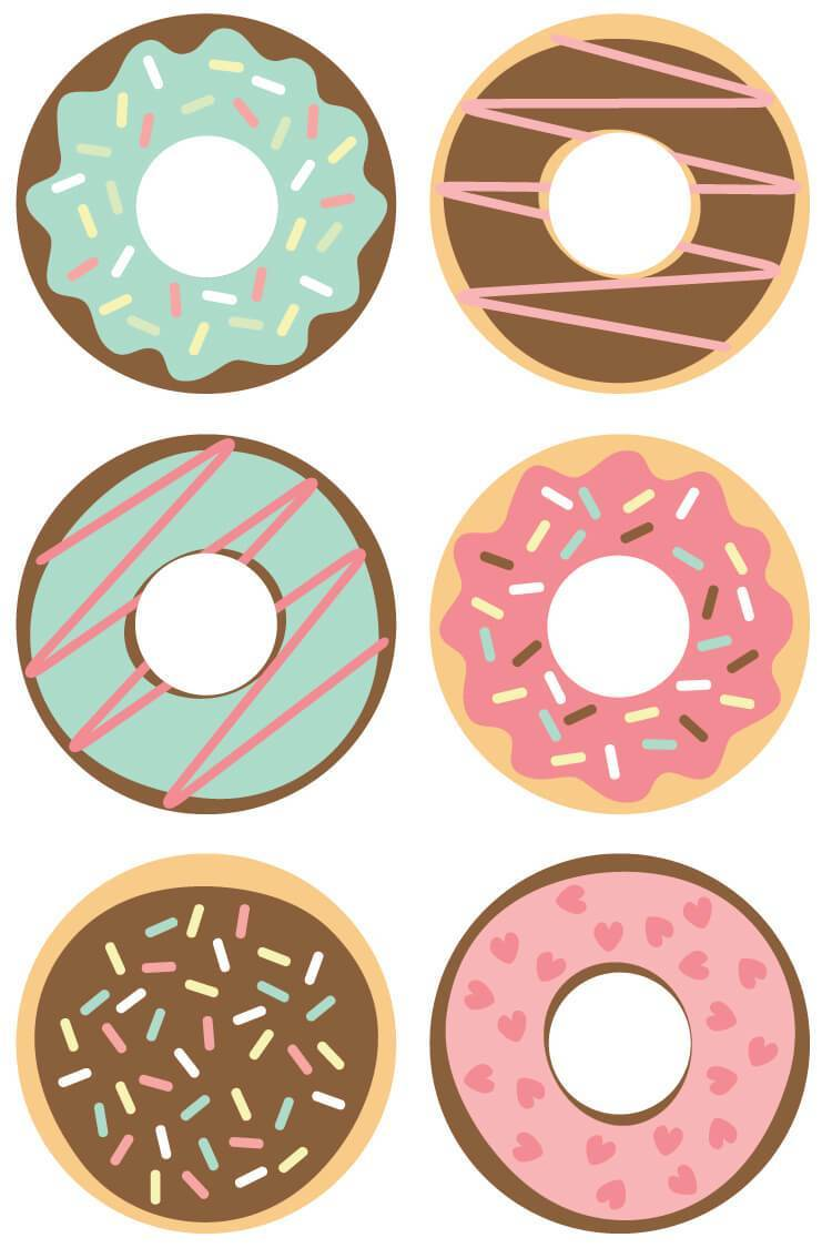 3 clipart donut. Cut files clip art