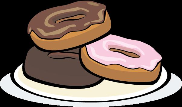 3 clipart donut. Doughnut panda free images