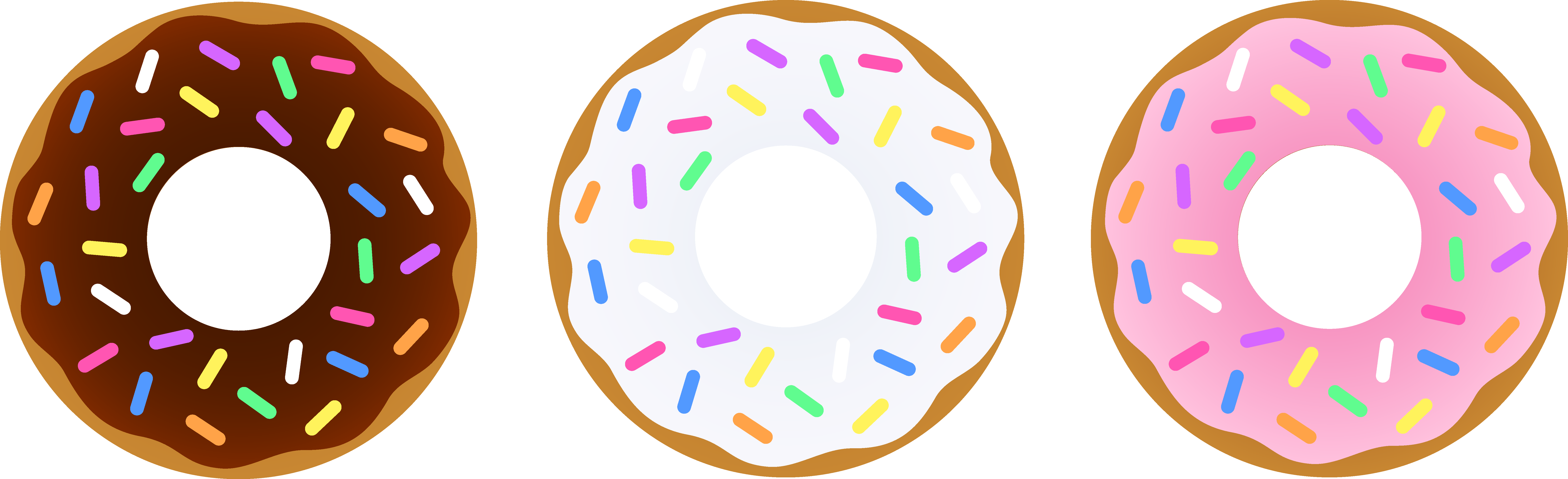 Donuts clipart word. Donut free simple cliparts