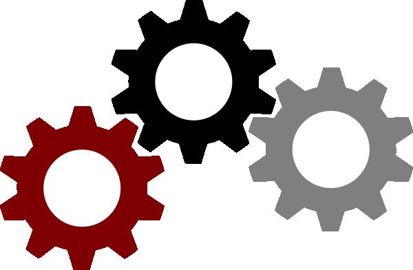 gears clip art. 3 clipart gear