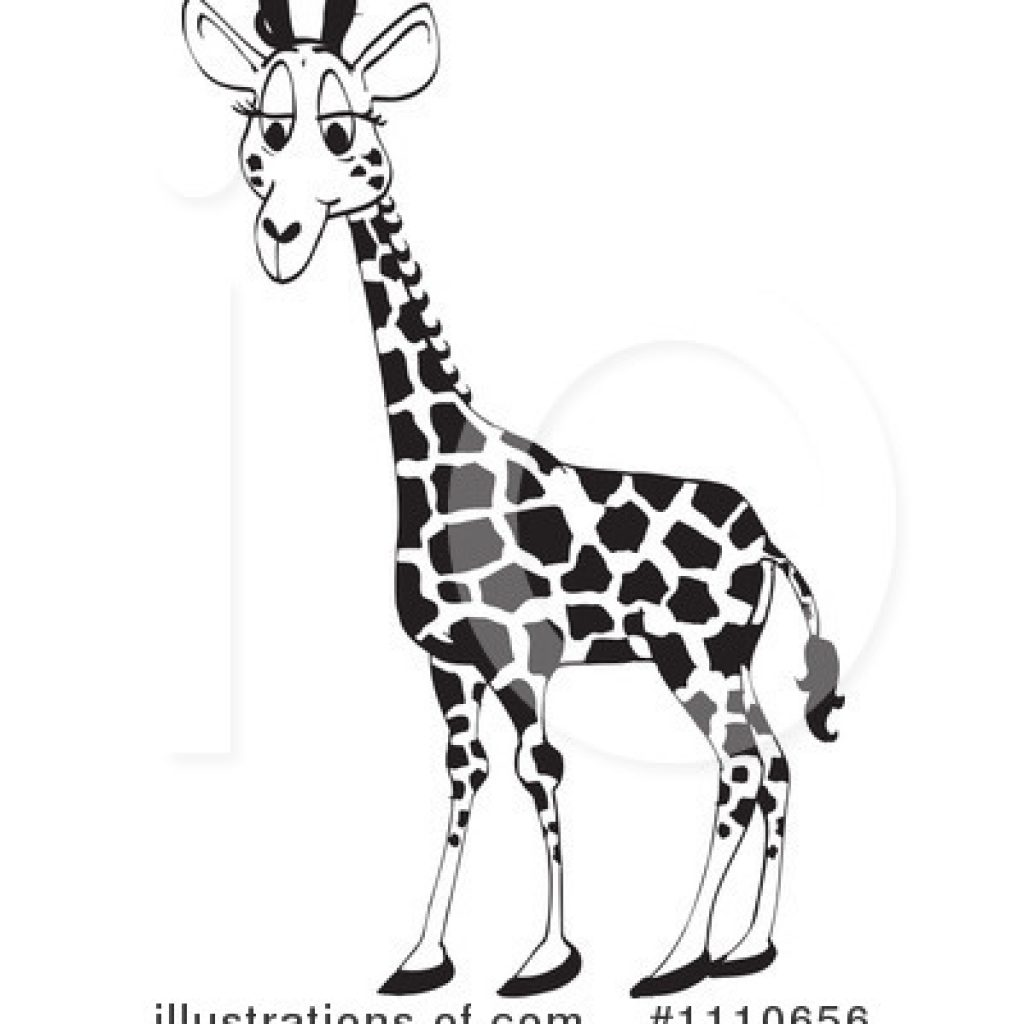 3 clipart giraffe. Black and white unicorn