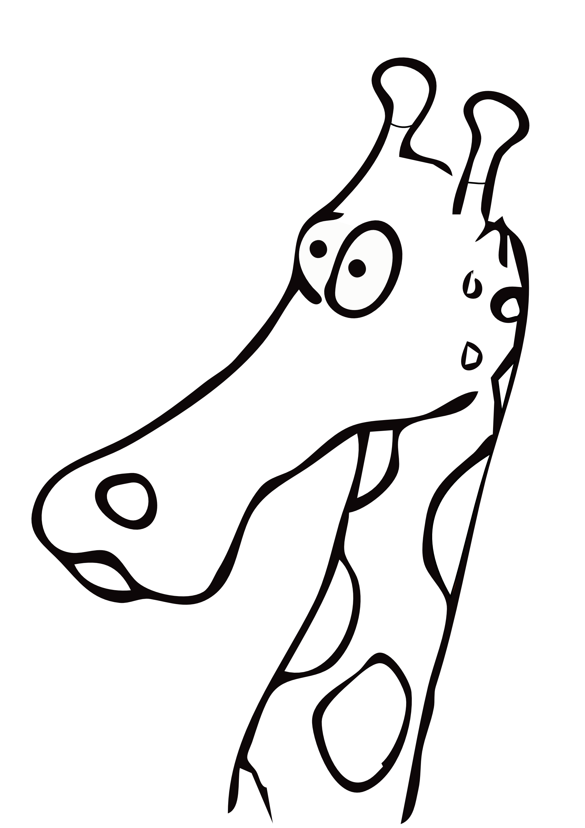 Black and white station. 3 clipart giraffe