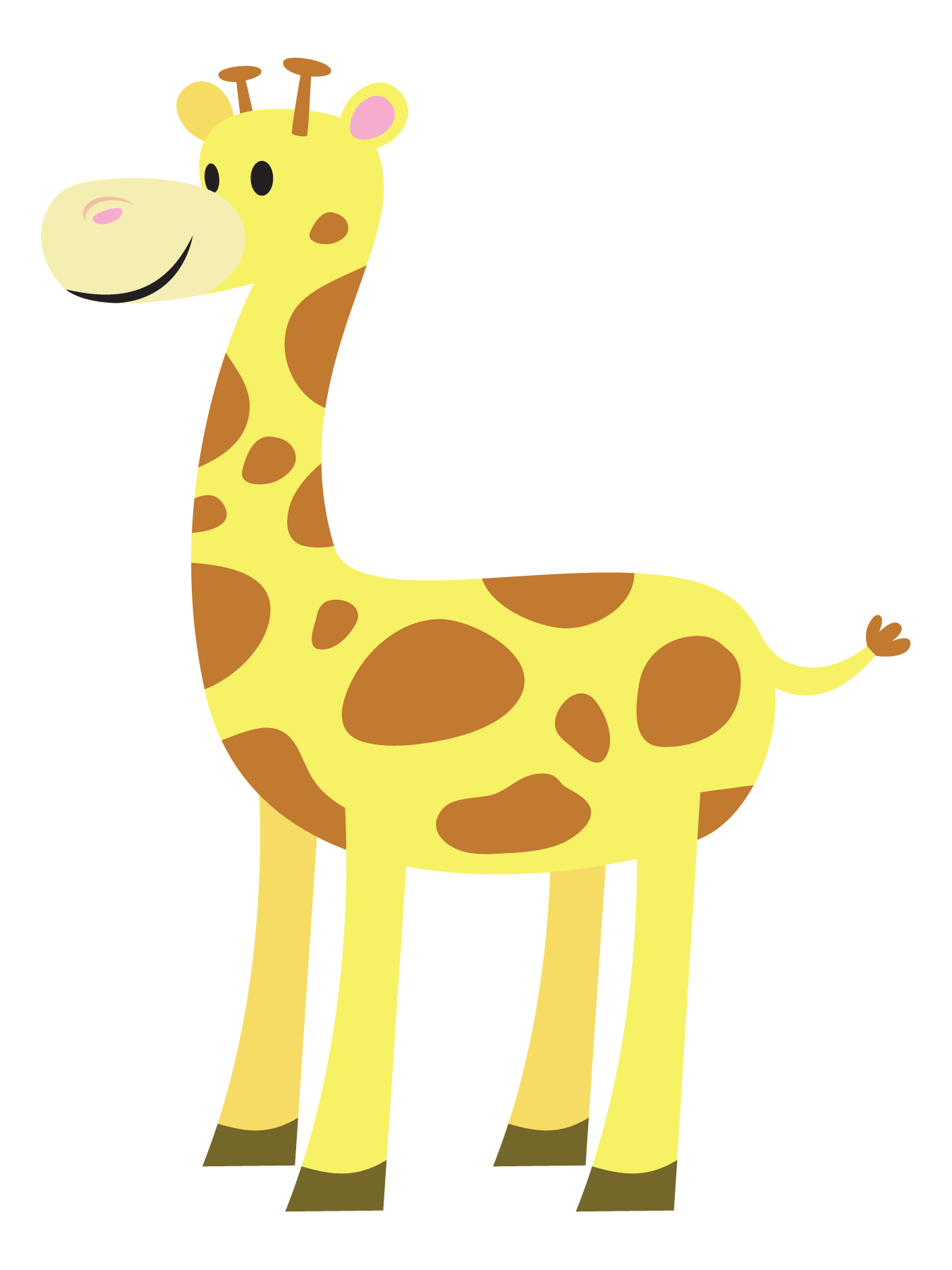 Clipart mom baby giraffe. Cute