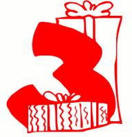 3 clipart holiday. Free birthday public domain