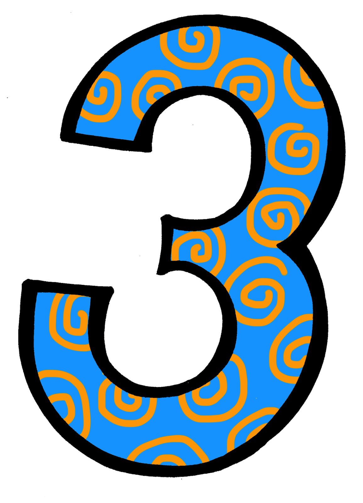 Number 1 clipart individual number.  collection of numbers