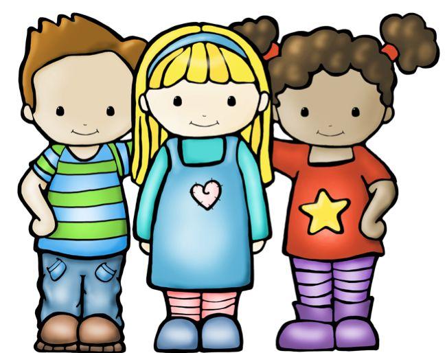 Kid boys and girls. Friendship clipart cute friend
