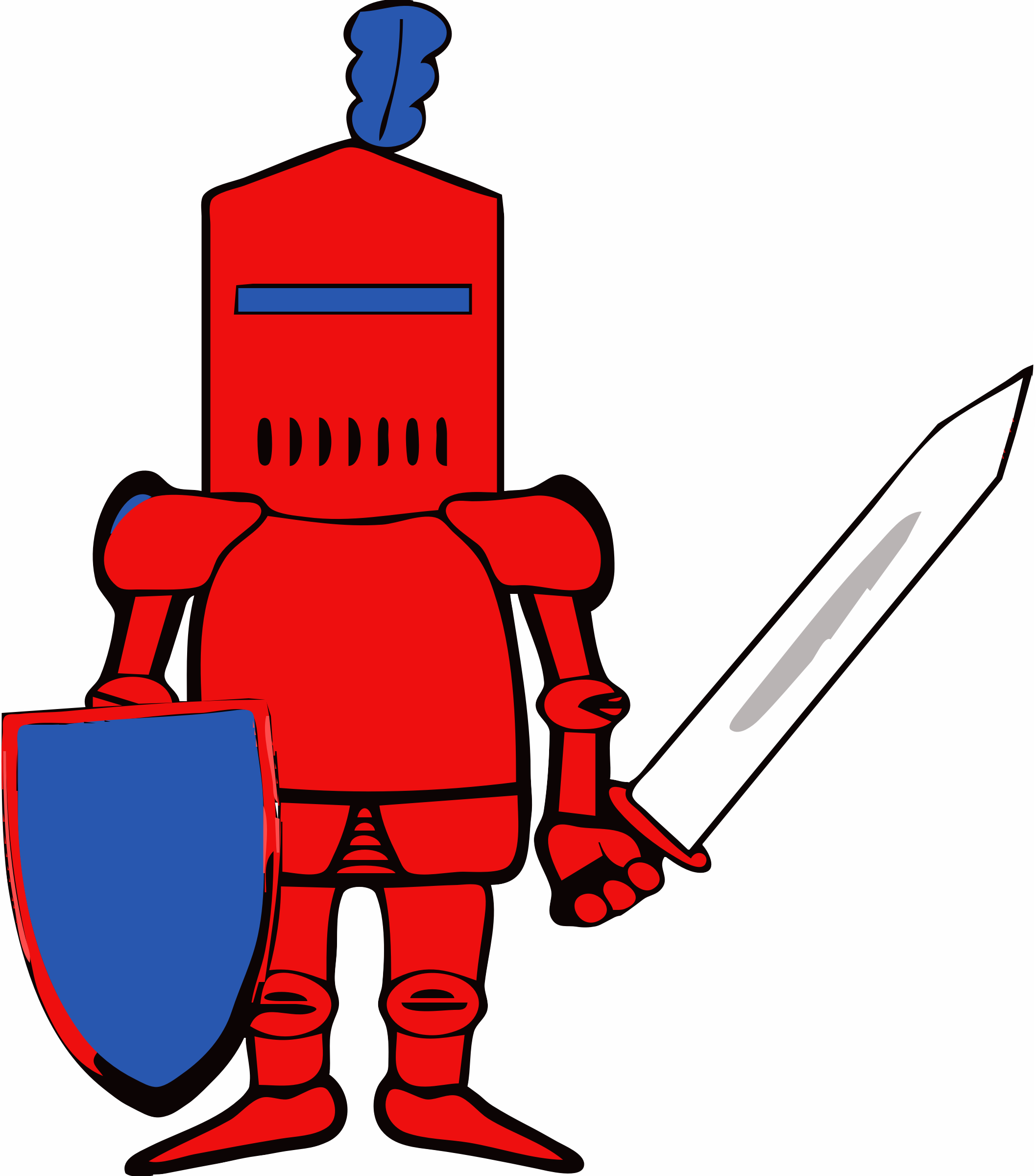 3 clipart knights. Princesses shields edited big