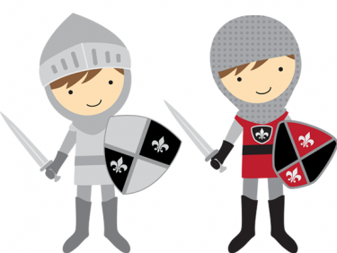 3 clipart knights. These would be adorable