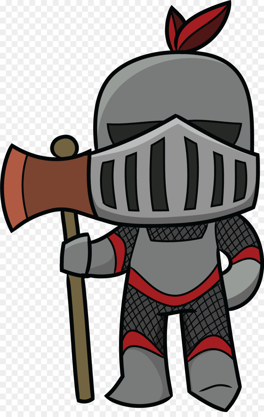 Middle ages knight cartoon. 3 clipart knights
