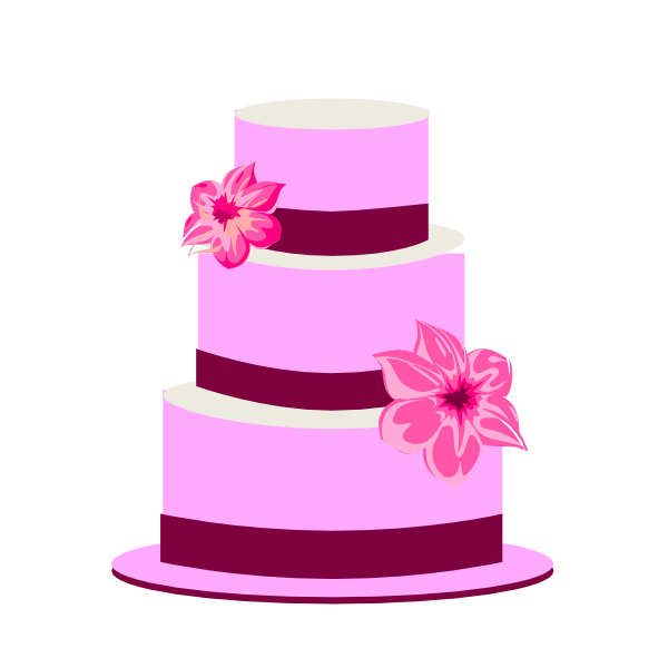 3 clipart layer cake.  collection of high