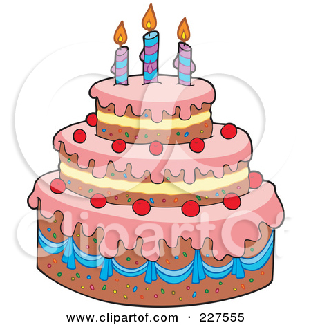 3 clipart layer cake.  collection of layered