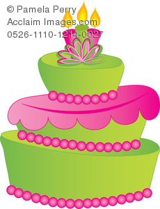 Cake clipart fancy. Clip art illustration of
