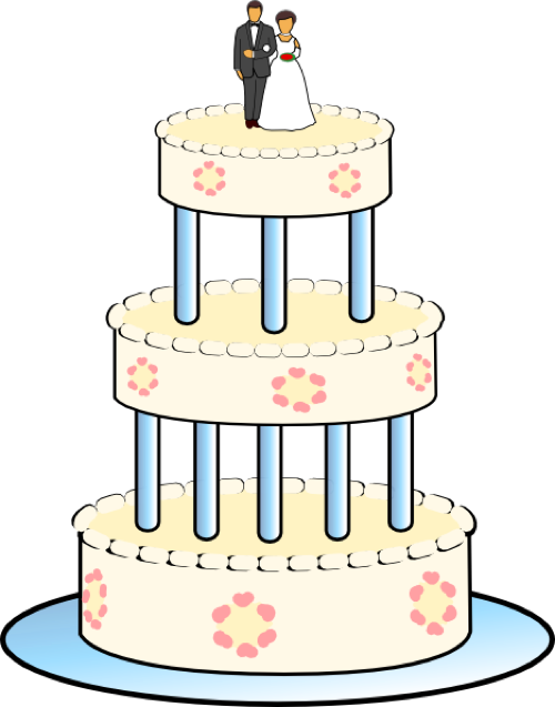 3 clipart layer cake. Wedding free graphics for