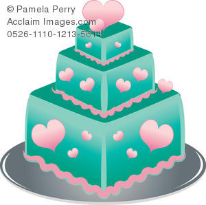 3 clipart layer cake. Clip art illustration of