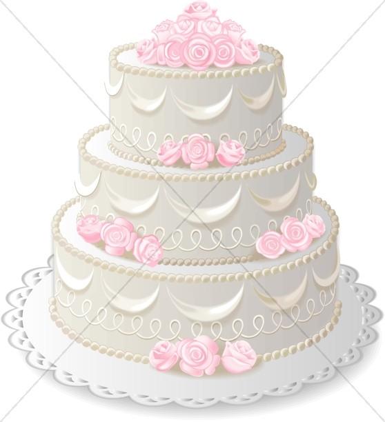 Three anniversary christian wedding. 3 clipart layer cake