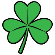 3 clipart leaf clover. Illustration of green three
