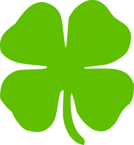 3 clipart leaf clover.  clip art at