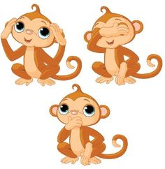 Cute cartoon monkeys clip. 3 clipart monkey