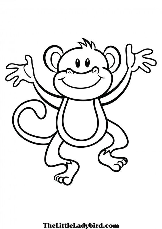 3 clipart monkey. Black and white station