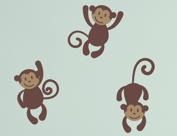 3 clipart monkey. Second grade ps q