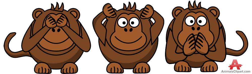 3 clipart monkey. The three monkeys free