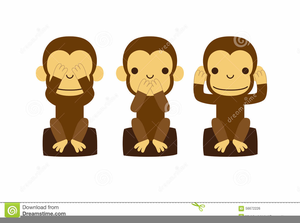 3 clipart monkey. Three free images at