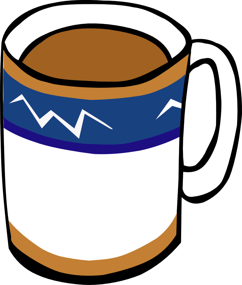 Mug station . Clipart coffee wine
