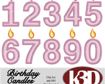 Etsy happy birthday pink. 5 clipart 5 candle