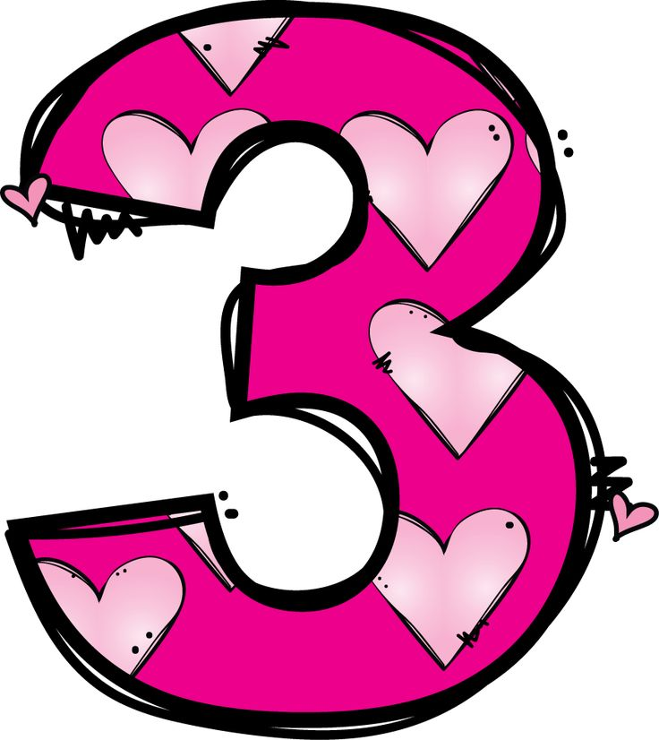 3 clipart numeral.  best f s
