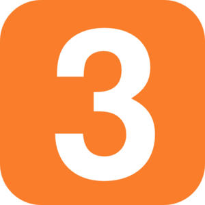 3 clipart numeral. Number orange pencil and