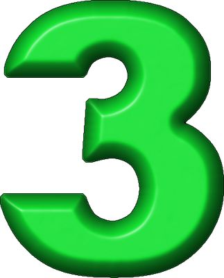 best numbers only. 3 clipart numeral