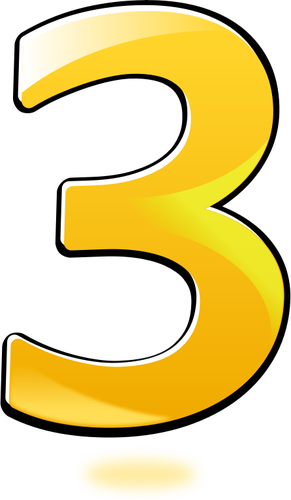 3 clipart numeral. Number three drawing at