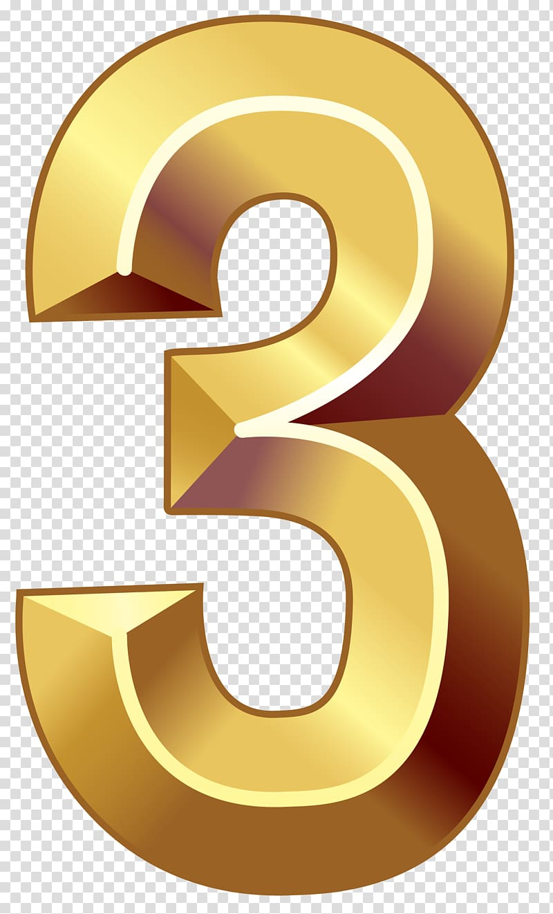 Numerical digit number three. 3 clipart numeral